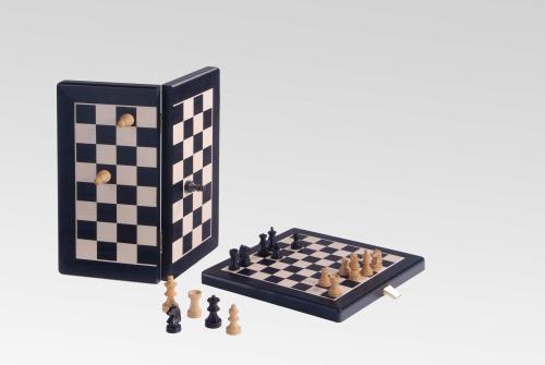 reiseschach in schwarz ahorn magnetisch 19mm. Black Bedroom Furniture Sets. Home Design Ideas